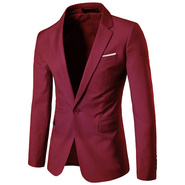 Autumn Winter New Mens Single Breasted Slim Fit Wedding Party Social Suit Jackets Plus Size