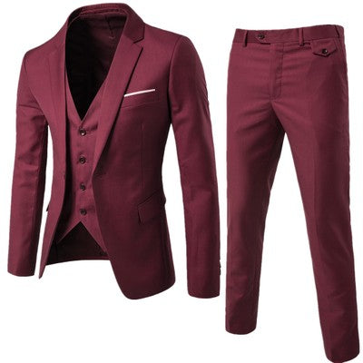 New Men 3 Peiece Single Breasted Wedding Groom Casual Suits