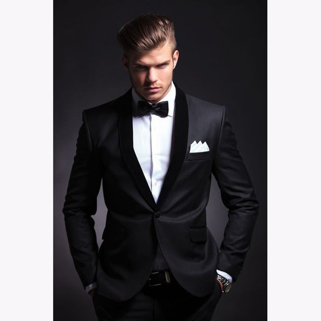 New Men Single Breasted Slim Fit Business Wedding Party Groom Tuxedos Suits