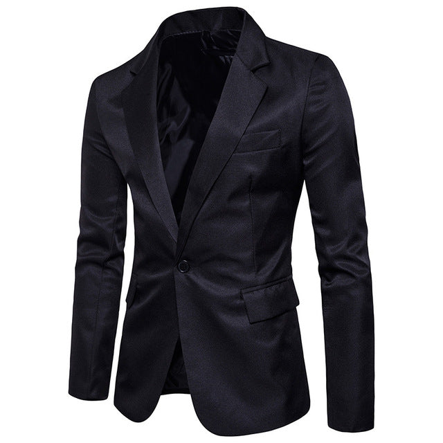 New Spring Men's Single Button Solid Color Loose Fit Casual Blazer