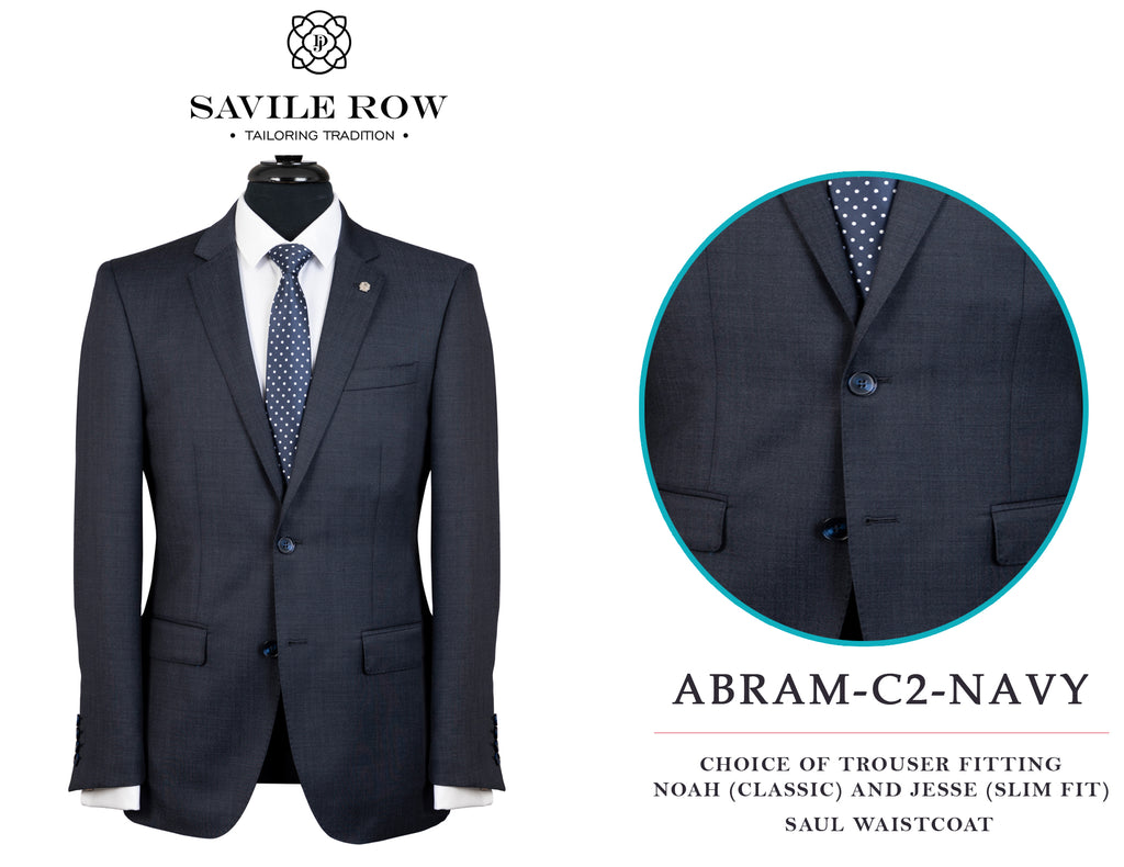 Savile Row Abram Navy (C2) Suit