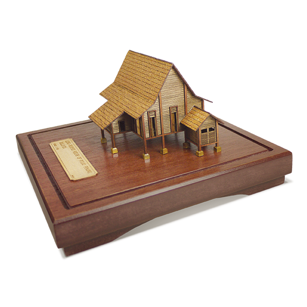 3-D Miniatures  - Traditional Malay House - Penang