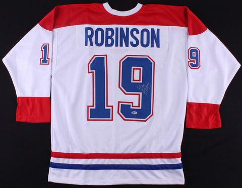 Larry Robinson Signed Montreal Canadiens Jersey (Beckett) 20th Overall pick 1971