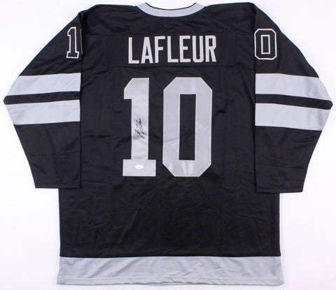 Guy Lafleur Signed Montreal Canadiens Black Jersey (JSA) 5x Stanley Cup Champion
