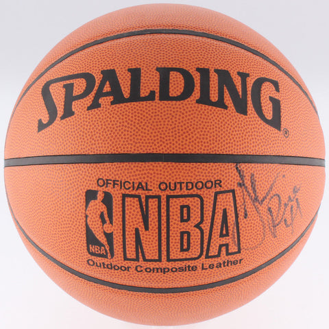 Glen Rice Signed NBA Basketball (JSA) #4 Overall Pick 1989 NBA Draft Miami Heat