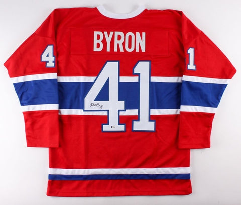 Paul Byron Signed Canadiens Jersey (Beckett COA) Playing career  2009–present
