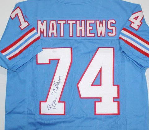 Bruce Mathews Signed Houston Oilers Jersey (JSA) 14× Pro Bowl (1988–2001)