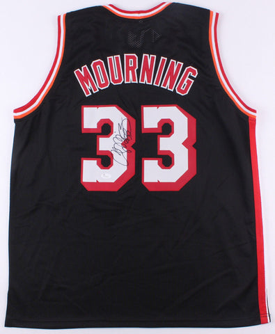 Alonzo Mourning Miami Heat Black signed jersey / 7× NBA All-Star (JSA COA)