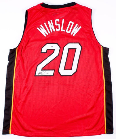 Justise Winslow Signed Miami Heat Jersey (PSA COA) 2015 NCAA Champion ( Duke )