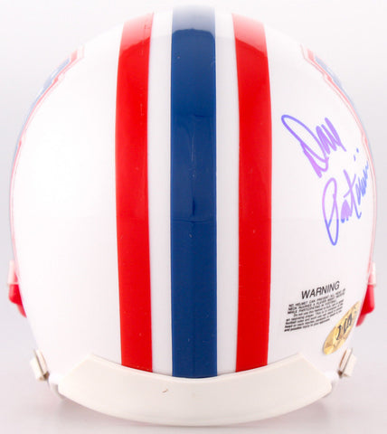 "Dan Pastorini Signed Oilers Mini Helmet Inscribed ""Luv ya Blue!"" (MAB Hologram)"