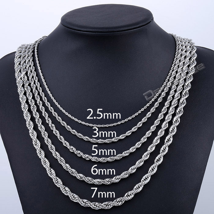 2.5/3/5/6/7mm Stainless Steel Necklace