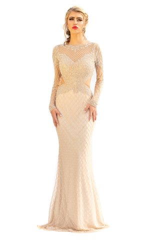 Primavera Couture 3231 Gorgeous Full-Sleeve Long Gown