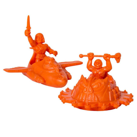 Masters of the Universe MUSCLE 4-Pack - Wind Raider w/He-Man and Roton w/Skeletor (Orange)