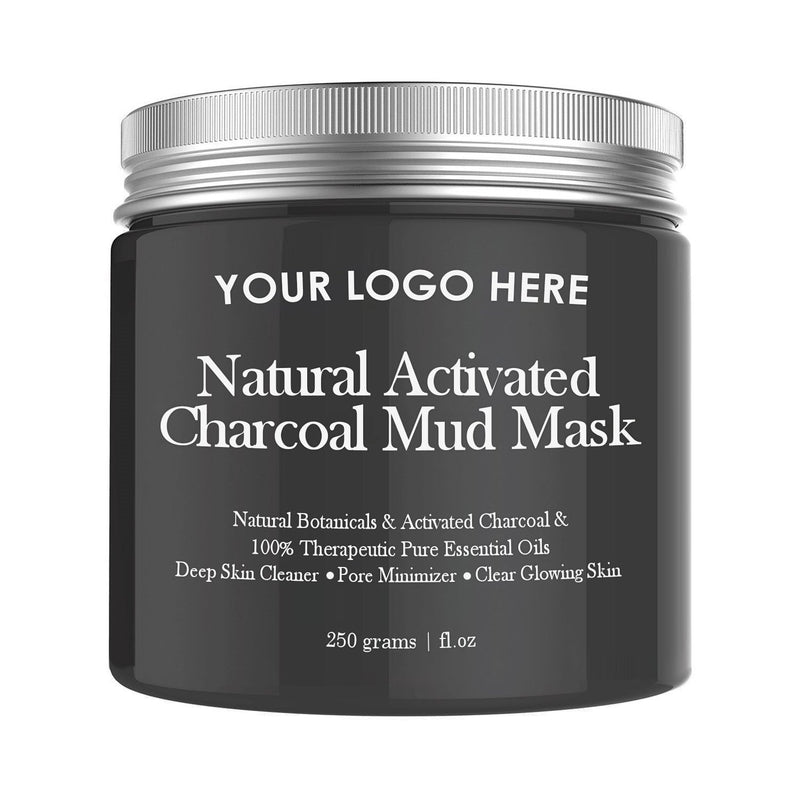 Natural Mud Mask With Activated Charcoal- Lavender And Coconut Oil - Medidermlab