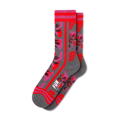 Women's Split Floral Socks - Fun Socks