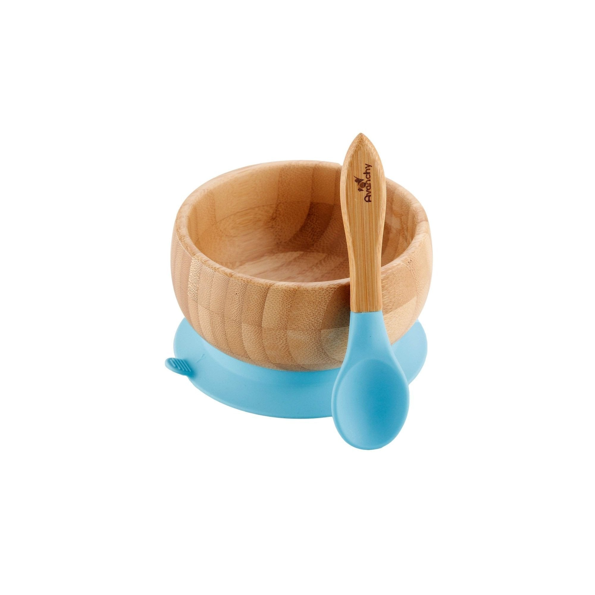 Avanchy Bamboo Suction Baby Bowl + Spoon