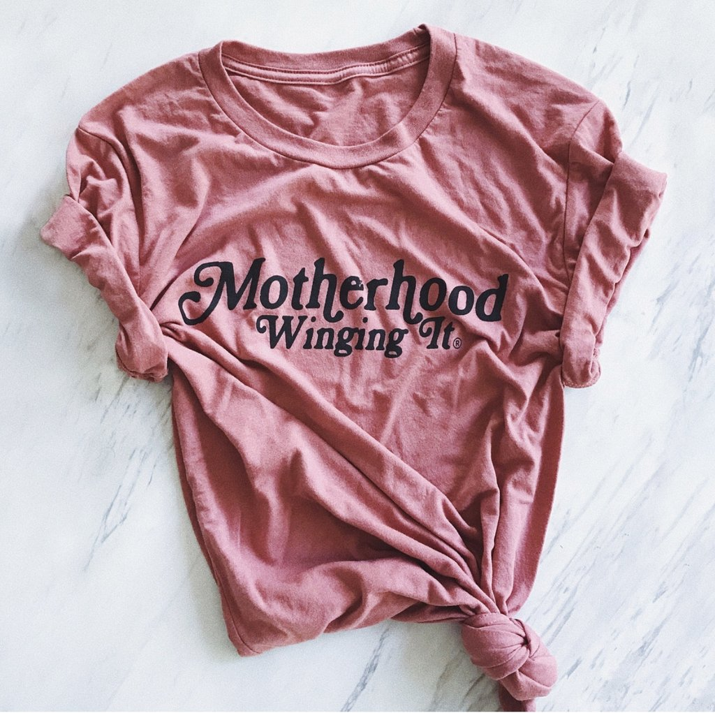 "Mom Culture ""MOTHERHOOD WINGING IT"" T-SHIRT"