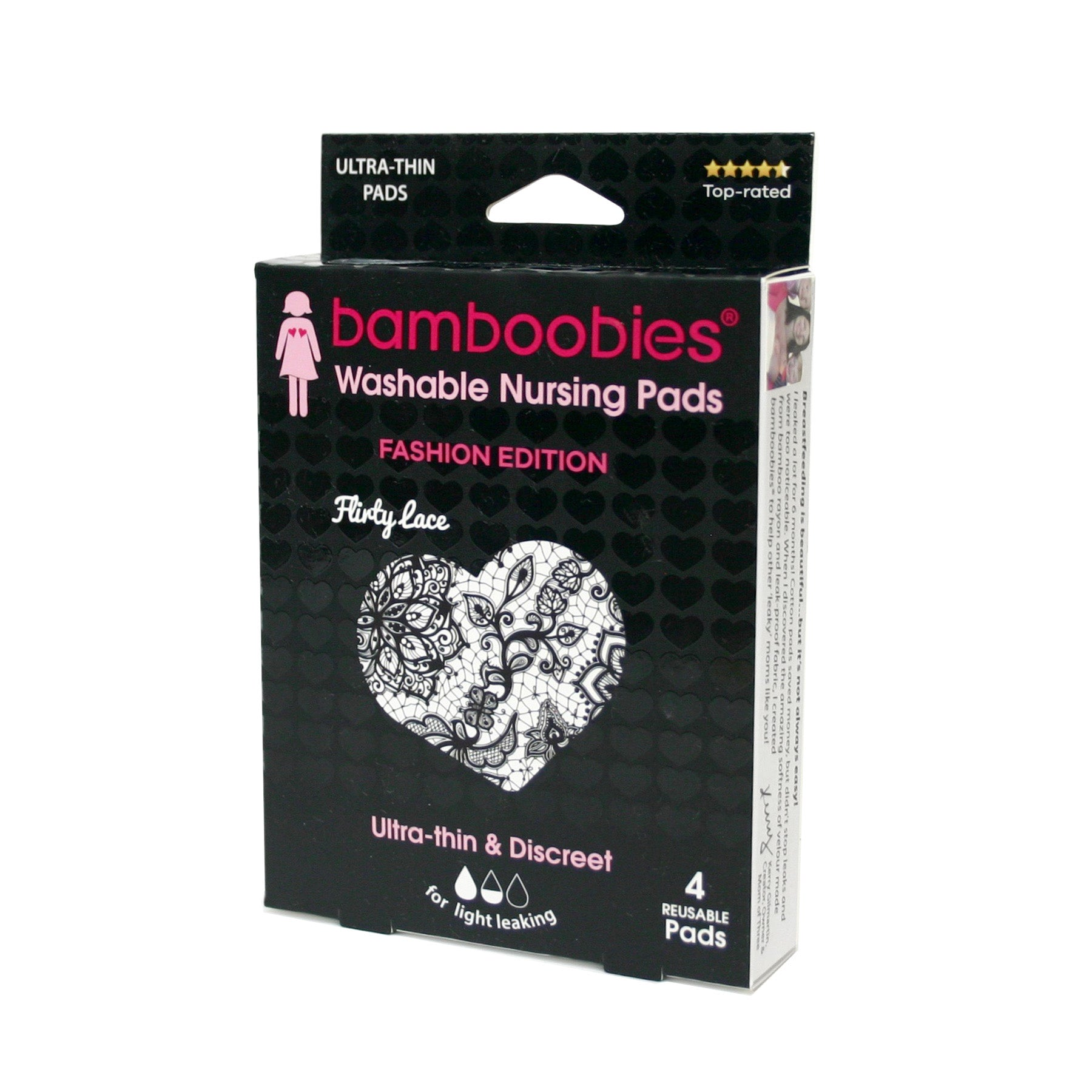 bamboobies Regular Nursing Pads - FASHION EDITION: Flirty Lace 2 pairs