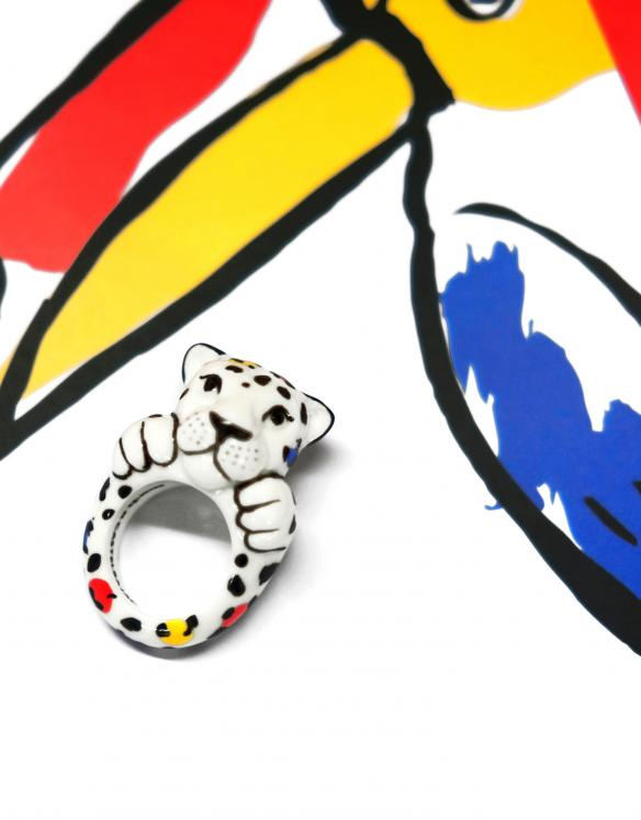 Limited Edition Castelbajac x Nach Leopard ring