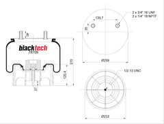 Blacktech Air Suspension Bag