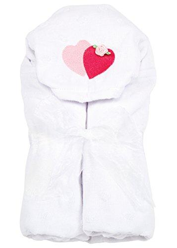 AM PM Kids! Hooded Towel, Hearts and Flowers, 0-2T