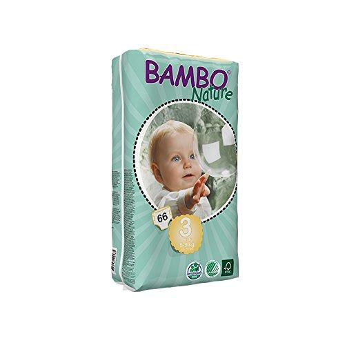 Bambo Nature Midi Size 3 (11-20lb / 5-9kg) Eco Nappies - 66 pieces per Tall Pack
