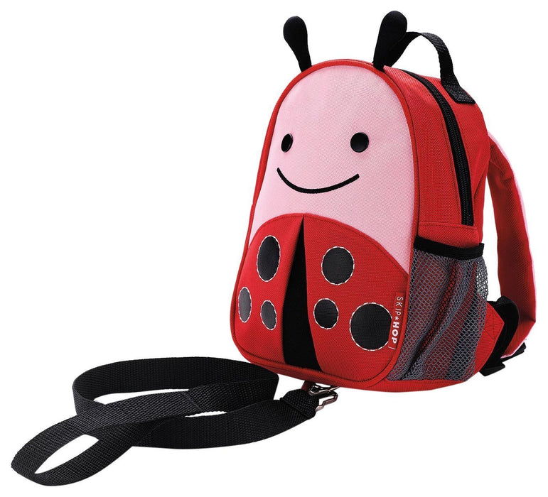 Skip Hop Zoo Little Kid and Toddler Safety Harness Backpack, Livie Ladybug