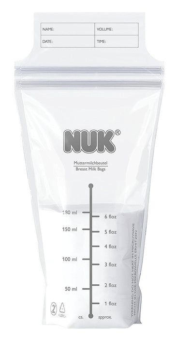 NUK Breast Milk Bags, Pack of 25