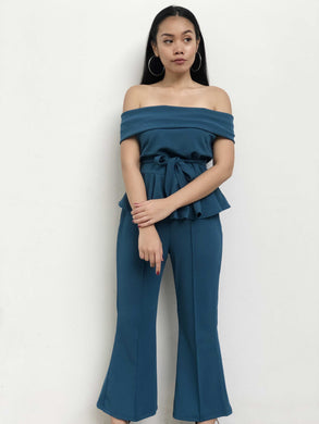 Two-Piece Peplum Jumpsuit