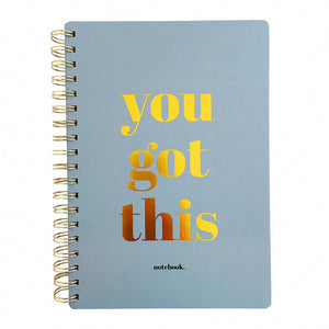 "Quaderno B5 con spirale ""You got this"""
