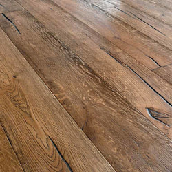 15/4 Antique Golden Oak Brushed & Hard-Wax Oiled 220mm Engineered Wood Flooring image