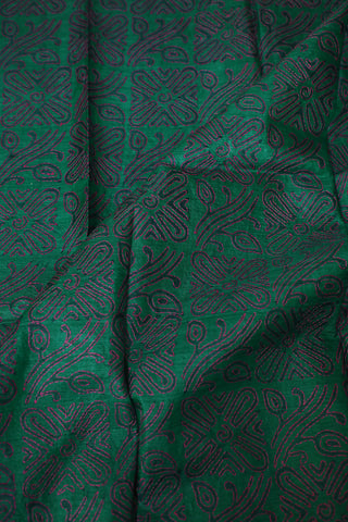 Embroidered Kantha Work Tussar Silk Blouse Fabric