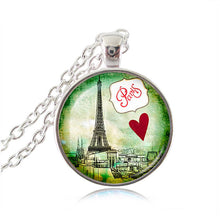 "Vintage Eiffel Tower Glass Tile Pendant - ""La Tour Eiffel"""