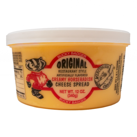Bucky Badger Horseradish Restaurant Style Cheese Spread