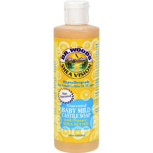 Dr. Woods Shea Vision Pure Castile Soap Baby Mild With Organic Butter - 8 Fl Oz