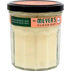 Mrs. Meyers Soy Candle - Geranium - Case Of 6 - 7.2 Oz Candles