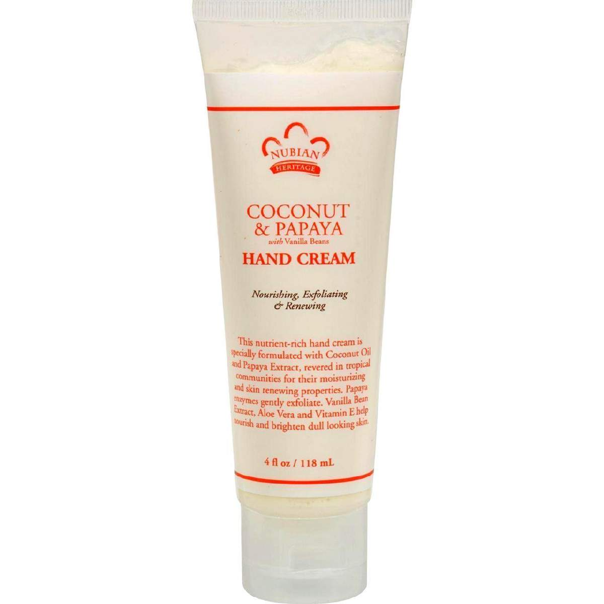 Nubian Heritage Hand Cream - Coconut & Papaya - 4 Oz