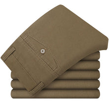 MYDBSH Men Khakis Twill Pants Ropa Casual Hombre Mid-low Rise Khakis Pants Men's Solid Clothing