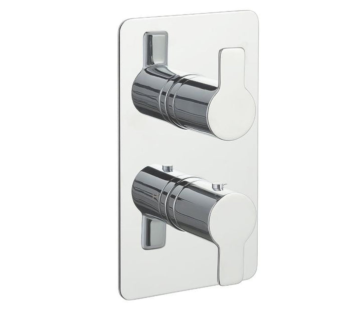 Chronos Chrome Thermostatic 2 Outlets Concealed Shower Valve - Vertical - Tapron