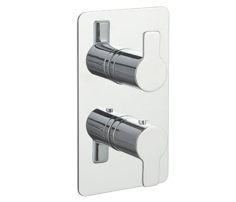 Chronos Chrome Thermostatic 2 Outlets Concealed Shower Valve - Vertical [79671]