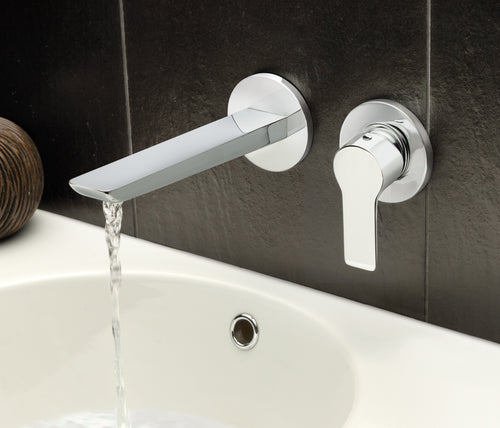 Chronos Wall Mounted Basin Mixer - Tapron