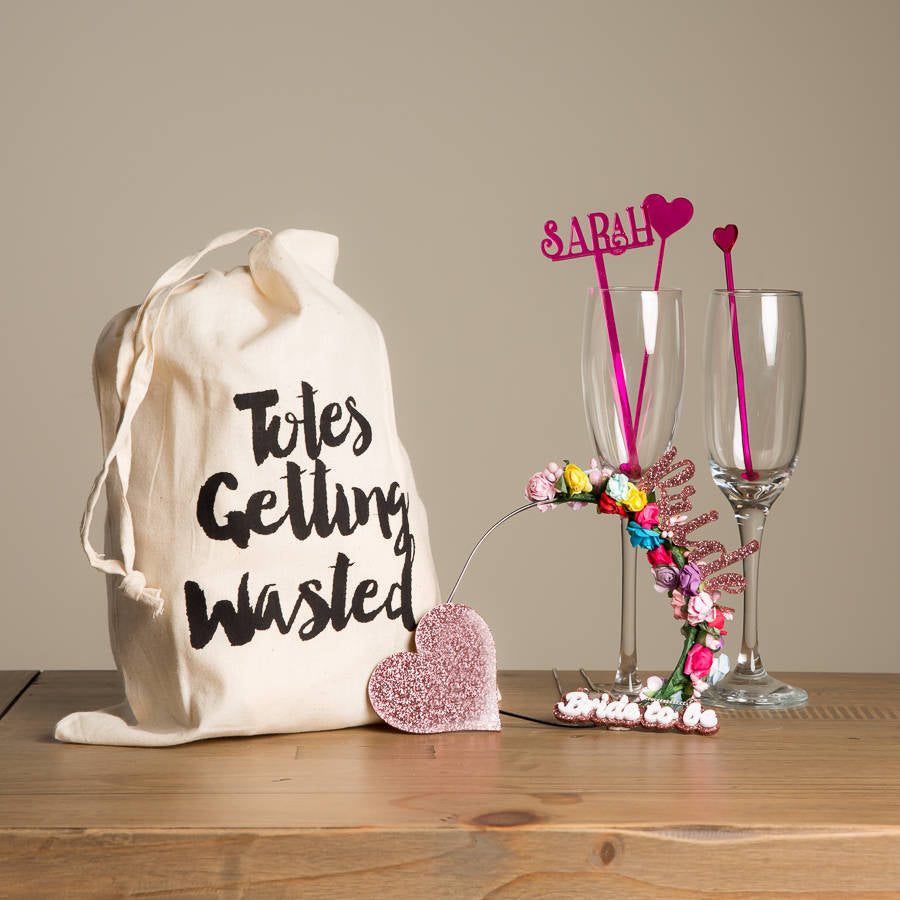Hen Party Tote Bag Gift Set For The Bride To Be - Funky Laser