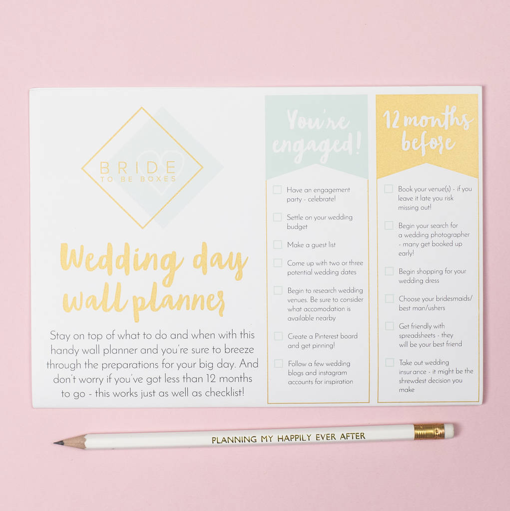 Wedding Wall Planner Engagement Gift