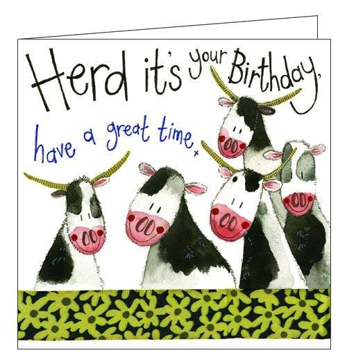 Alex Clark to a Happy Birthday farming cows for her herd its your birthday Birthday card Nickery Nook new