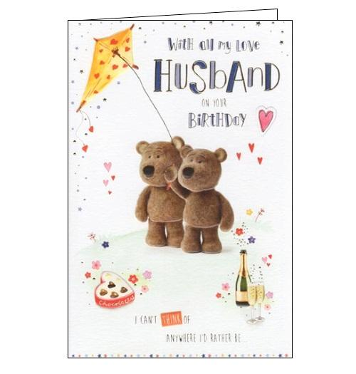 ICG barley the little brown bear birthday cards husband birthday card husband Nickery Nook