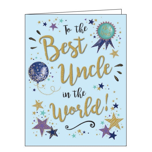 Piccadilly Gold Dust best uncle birthday card Nickery Nook