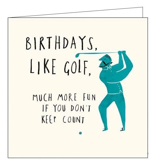 Woodmansterne birthdays are like golf Birthday card Nickery Nook