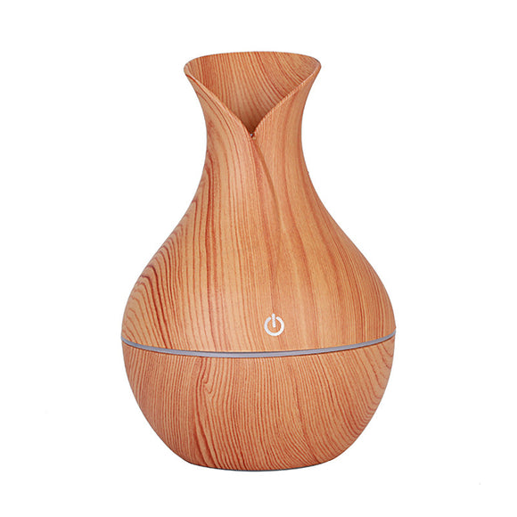 KBAYBO electric humidifier aroma oil diffuser ultrasonic wood air humidifier USB cool mini mist maker LED lights for home office