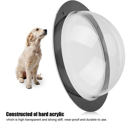 Durable Acrylic Pet Sight Window Dome Insert Fence Clear Outside Landscape Viewer For Cats Dogs,Dog Window, Fence View Window