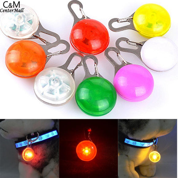 Flash Dog LED 9 Outdoor for Mini you Night Glow Pendant Pet Collar colors Ring Glow There are Buckle to choose